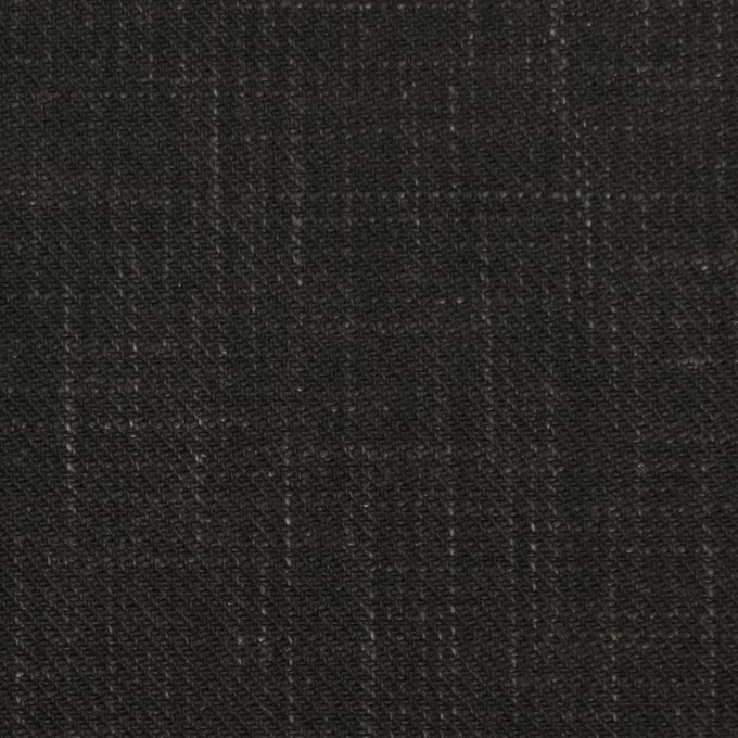 コットン&リネン×無地(チャコールブラック)×スラブサージ イメージ1