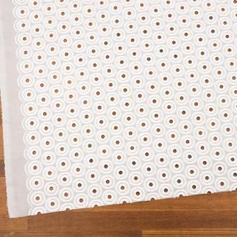コットン×サークル(ホワイト)×ボイル刺繍 サムネイル2