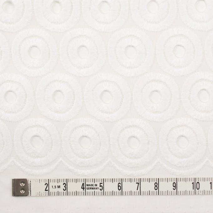 コットン×サークル(ホワイト)×ボイル刺繍 イメージ4
