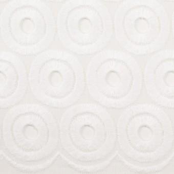 コットン×サークル(ホワイト)×ボイル刺繍 サムネイル1