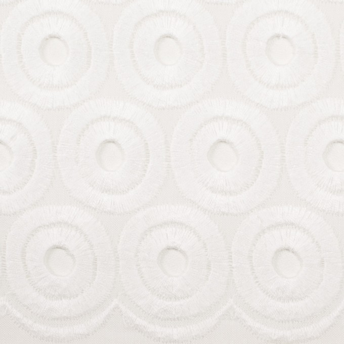コットン×サークル(ホワイト)×ボイル刺繍 イメージ1