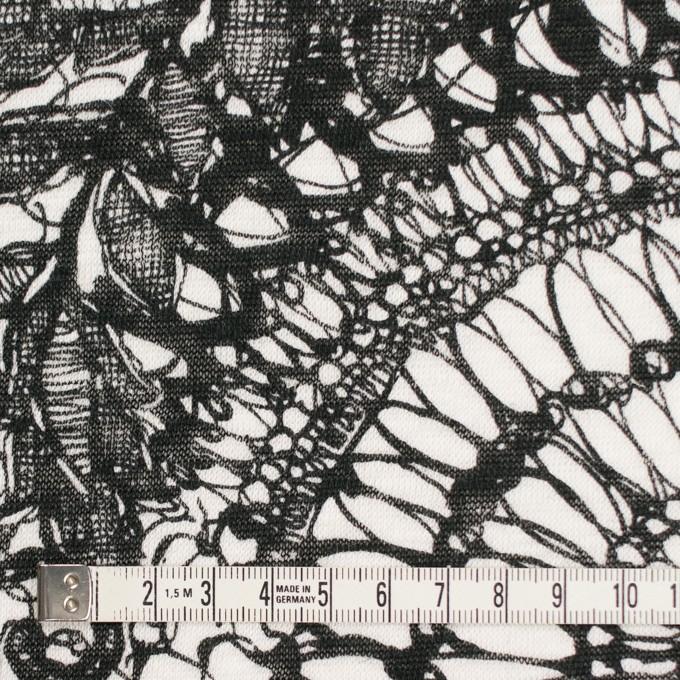 リネン×幾何学模様(ホワイト&ブラック)×天竺ニット_全2色 イメージ4