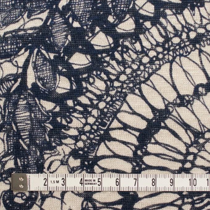 リネン×幾何学模様(キナリ&ネイビー)×天竺ニット_全2色 イメージ4