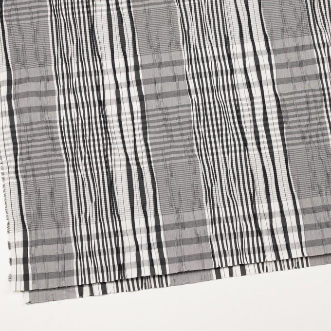 コットン&ナイロン混×チェック(ブラック)×タテタック イメージ2