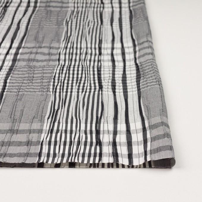 コットン&ナイロン混×チェック(ブラック)×タテタック イメージ3