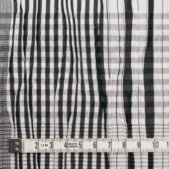 コットン&ナイロン混×チェック(ブラック)×タテタック サムネイル4