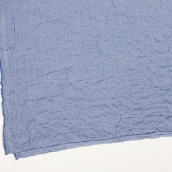 コットン&ポリウレタン×チェック(ブルー)×千鳥格子シャーリング_全2色 サムネイル2