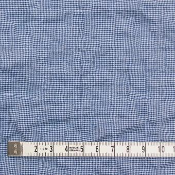 コットン&ポリウレタン×チェック(ブルー)×千鳥格子シャーリング_全2色 サムネイル4