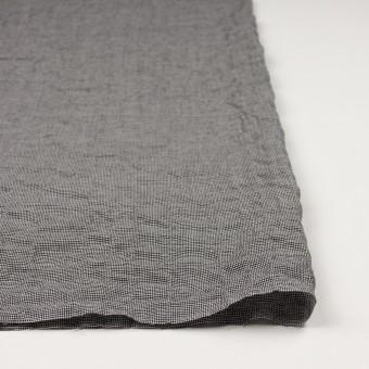 コットン&ポリウレタン×チェック(ブラック)×千鳥格子シャーリング_全2色 サムネイル3