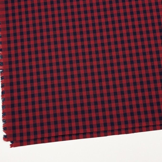 コットン×チェック(レッド&インディゴ)×シーチング_全3色 イメージ2