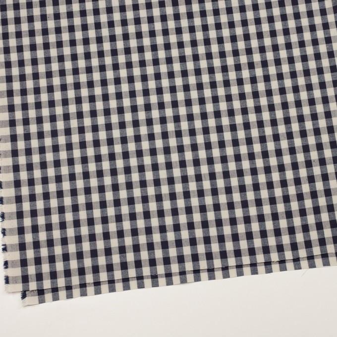 コットン×チェック(キナリ&インディゴ)×シーチング_全3色 イメージ2