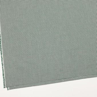 コットン&ポリウレタン×チェック(グリーン)×ポプリンストレッチ_全3色 サムネイル2