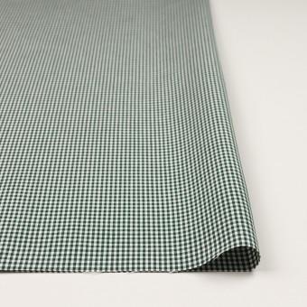 コットン&ポリウレタン×チェック(グリーン)×ポプリンストレッチ_全3色 サムネイル3