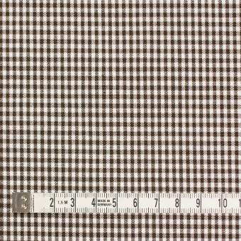 コットン&ポリウレタン×チェック(ブラウン)×ポプリンストレッチ_全3色 サムネイル4