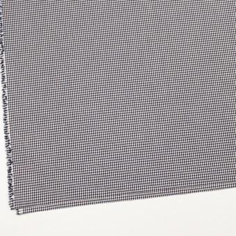 コットン&ポリウレタン×チェック(ダークネイビー)×ポプリンストレッチ_全3色 サムネイル2