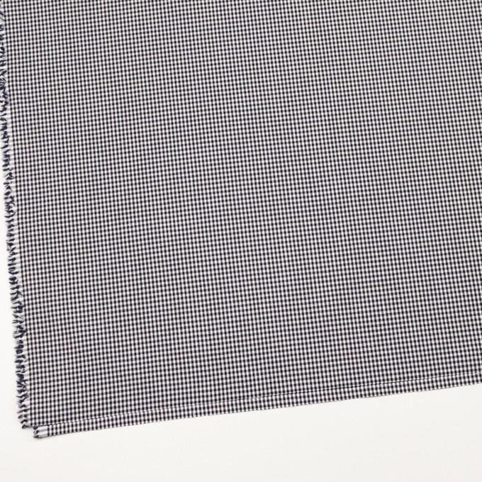 コットン&ポリウレタン×チェック(ダークネイビー)×ポプリンストレッチ_全3色 イメージ2
