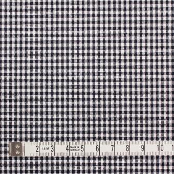 コットン&ポリウレタン×チェック(ダークネイビー)×ポプリンストレッチ_全3色 サムネイル4