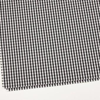 コットン&ナイロン混×チェック(ブラック)×ブロードストレッチ サムネイル2