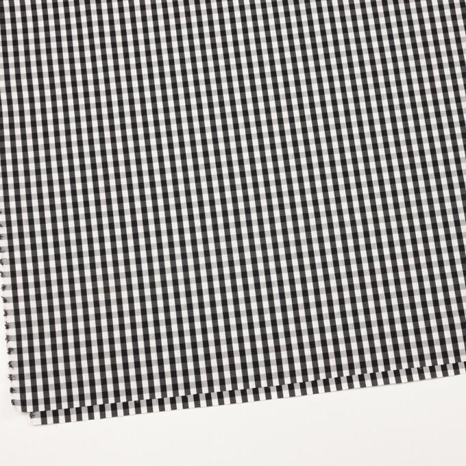 コットン&ナイロン混×チェック(ブラック)×ブロードストレッチ イメージ2