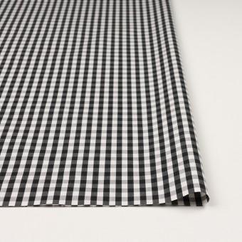 コットン&ナイロン混×チェック(ブラック)×ブロードストレッチ サムネイル3
