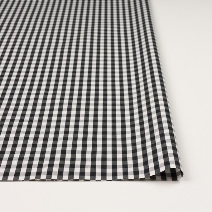コットン&ナイロン混×チェック(ブラック)×ブロードストレッチ イメージ3