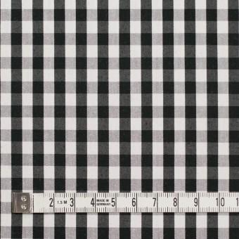 コットン&ナイロン混×チェック(ブラック)×ブロードストレッチ サムネイル4