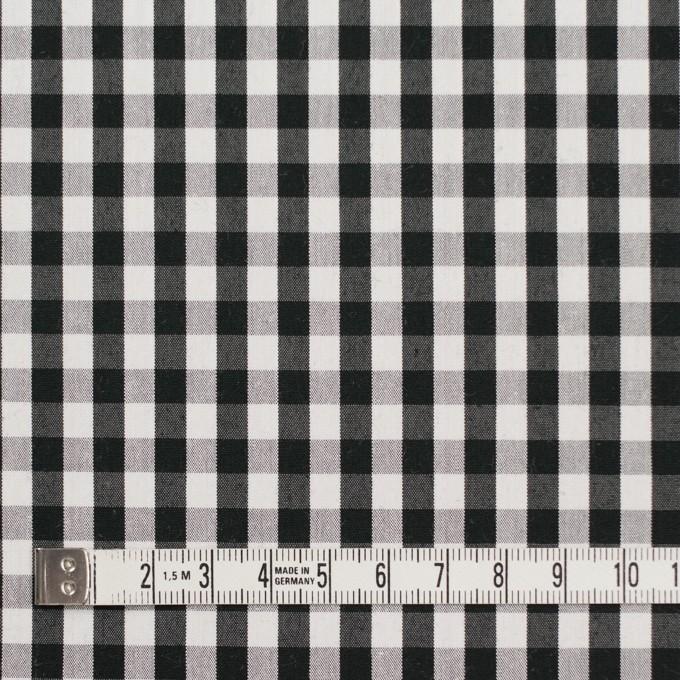 コットン&ナイロン混×チェック(ブラック)×ブロードストレッチ イメージ4