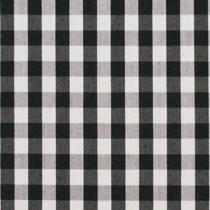 コットン&ナイロン混×チェック(ブラック)×ブロードストレッチ イメージ1