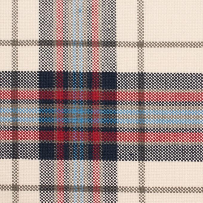 コットン×チェック(アイボリー&ネイビー)×キャンバス_全2色 イメージ1