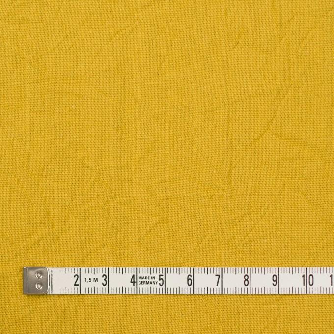 コットン&リネン×無地(マスタード)×キャンバスワッシャー_全15色 イメージ4