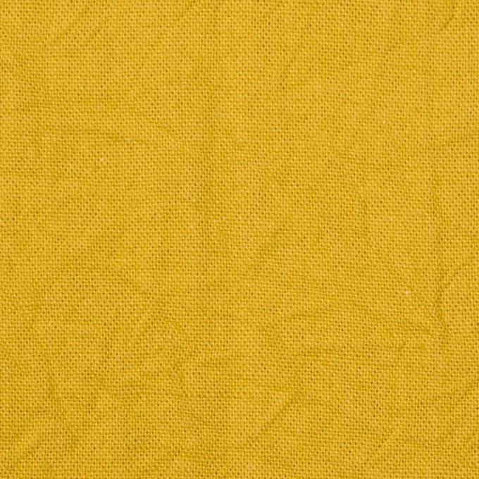 コットン&リネン×無地(マスタード)×キャンバスワッシャー_全15色 イメージ1