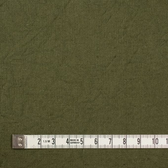コットン&リネン×無地(カーキグリーン)×キャンバスワッシャー_全15色 サムネイル4