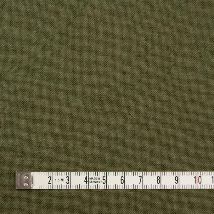 コットン&リネン×無地(カーキグリーン)×キャンバスワッシャー_全15色 イメージ4