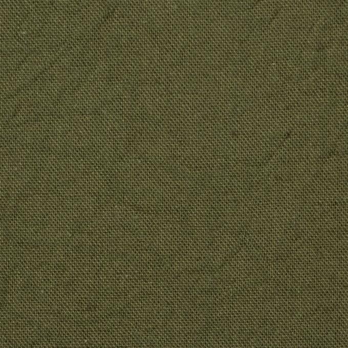 コットン&リネン×無地(カーキグリーン)×キャンバスワッシャー_全15色 イメージ1