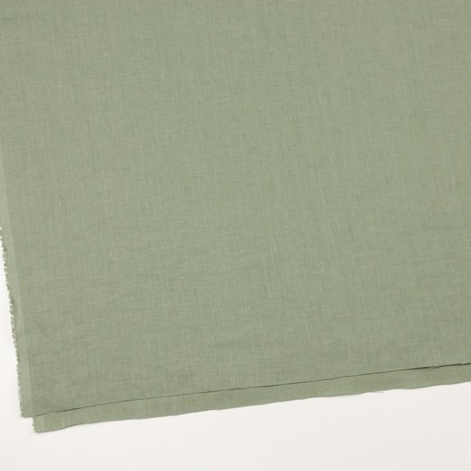 リネン×無地(セージグリーン)×薄キャンバス_全25色 イメージ2