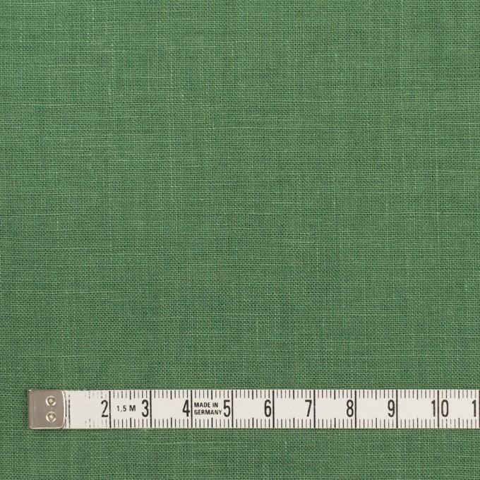 リネン×無地(フォレストグリーン)×薄キャンバス_全25色 イメージ4