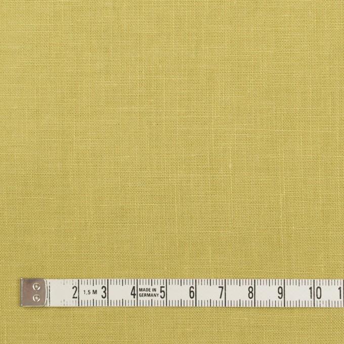 リネン×無地(スモーキーライム)×薄キャンバス_全25色 イメージ4