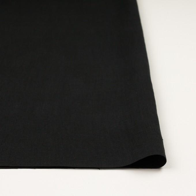 リネン×無地(ブラック)×薄キャンバス_全25色 イメージ3