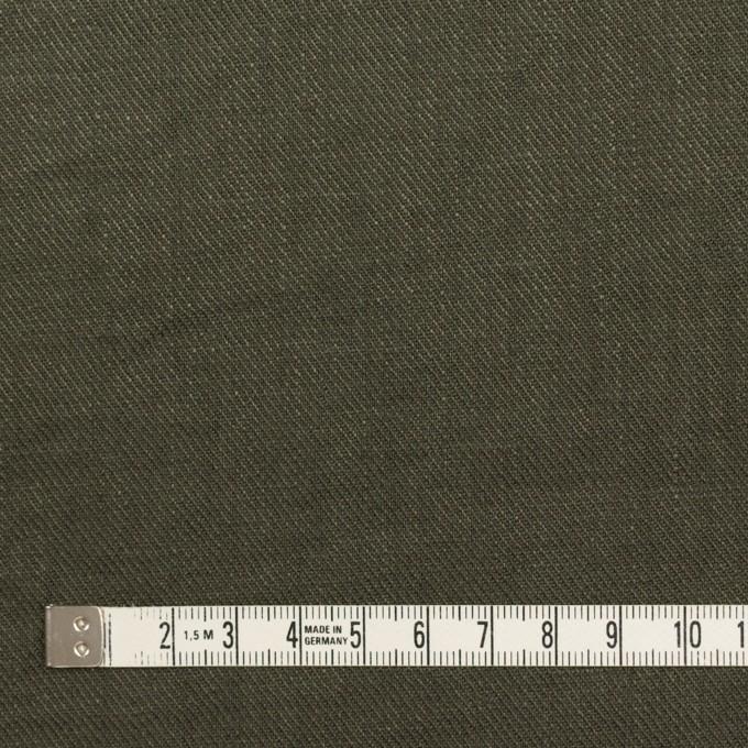 リネン×無地(オリーブグリーン)×サージ_全22色 イメージ4