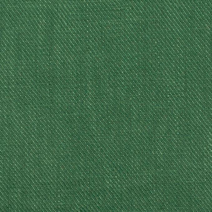 リネン×無地(パラダイスグリーン)×サージ_全22色 イメージ1