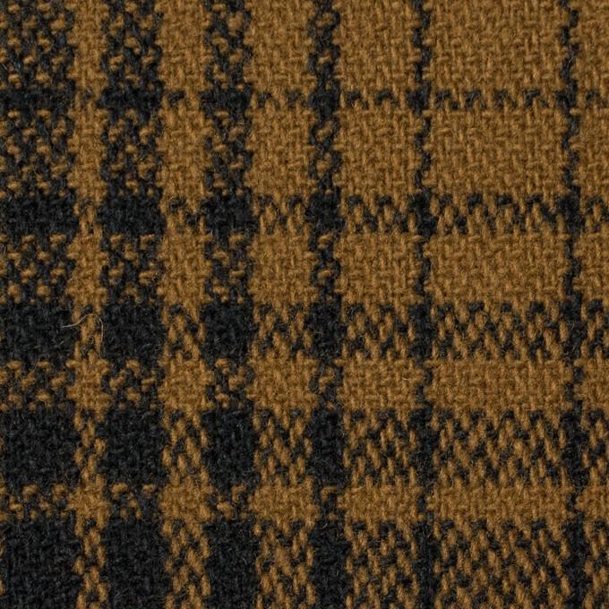ウール×チェック(モカブラウン)×ツイード_全3色 イメージ1