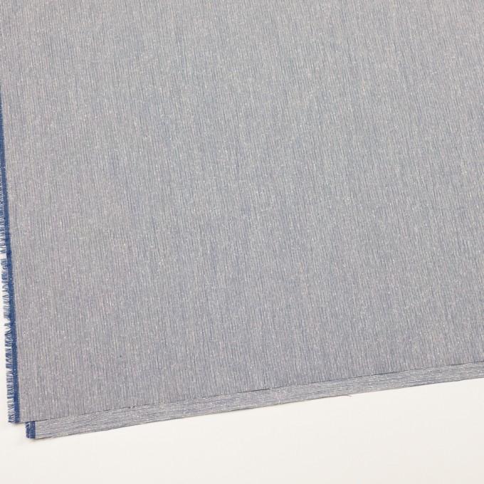 シルク&コットン×ストライプ(ブルー)×コードレーン イメージ2