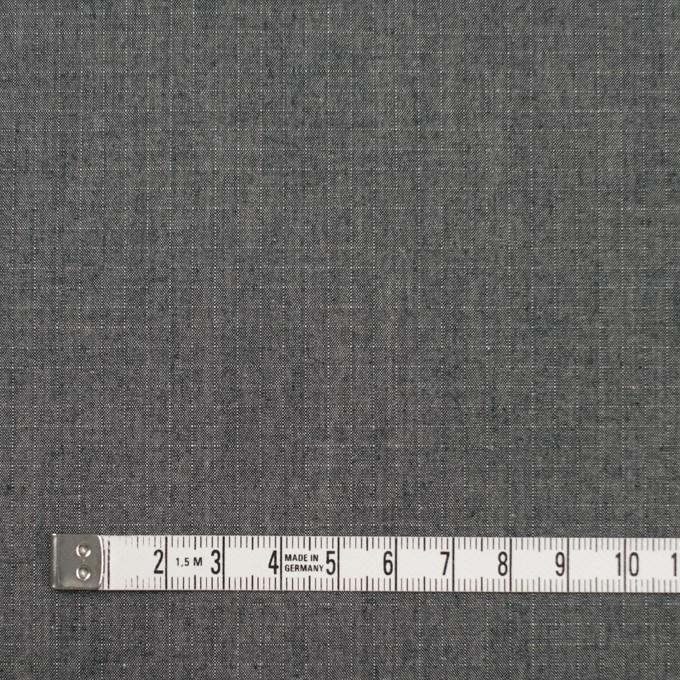 コットン×無地(チャコールグレー)×リップストップ イメージ4