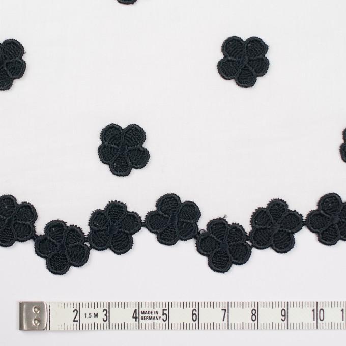 コットン×フラワー(ホワイト)×ローンモチーフレース イメージ3
