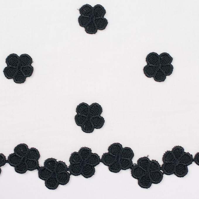 コットン×フラワー(ホワイト)×ローンモチーフレース イメージ1