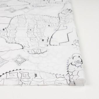 コットン×幾何学模様(ホワイト)×ローン刺繍_全3色_イタリア製 サムネイル3