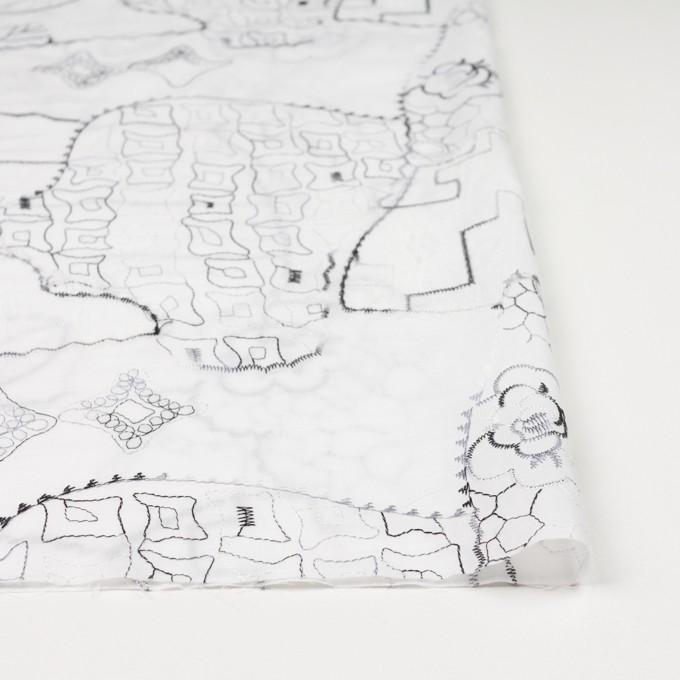 コットン×幾何学模様(ホワイト)×ローン刺繍_全3色_イタリア製 イメージ3
