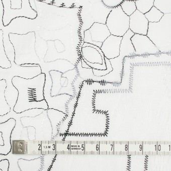 コットン×幾何学模様(ホワイト)×ローン刺繍_全3色_イタリア製 サムネイル4