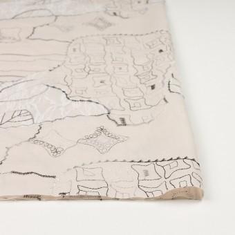 コットン×幾何学模様(ウォームベージュ)×ローン刺繍_全3色_イタリア製 サムネイル3