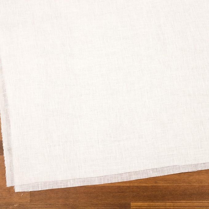 リネン&バンブー混×無地(オフホワイト)×シャンブレーガーゼ_全3色 イメージ2